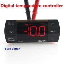 Ac220v 10A controlador de temperatura Digital refrigeración de calefacción auto termostato interruptor off ciclo de descongelación de control de luz con sensor NTC