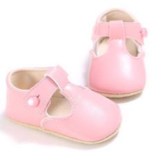 תינוק נעלי מתוק מזדמן נסיכת בנות תינוק ילדי עור מפוצל מוצק עריסה בייב תינוקות פעוט חמוד בלט מרי ג 'יין נעלי 0 -1 T(China)