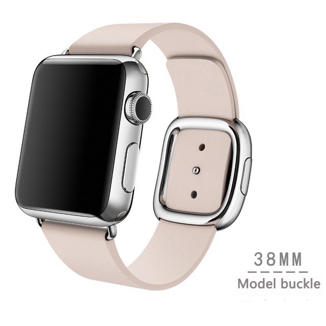 Для Apple , часы группа современный пряжка группа для iWatch браслет 38 мм 42 мм гладкий гранада кожи с из двух частей магнитным замком