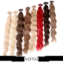 "Neitsi 5A U Nail Tip Pre Bonded Human Hair Natural Wave Extensions 100% Indian Remy Hair Wavy 20"" 1g/s 50g 100g 4# 613# 14Colors(China (Mainland))"