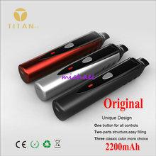 100% Original Titan 1 Dry Herbal Vaporizer Electronic Cigarette Kits Vaporizer Herb E Cigarette(China (Mainland))