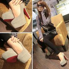 Free Shipping suede Sexy Women Pumps Princess Thick Heel Spring Women s shoes High Heels Platform