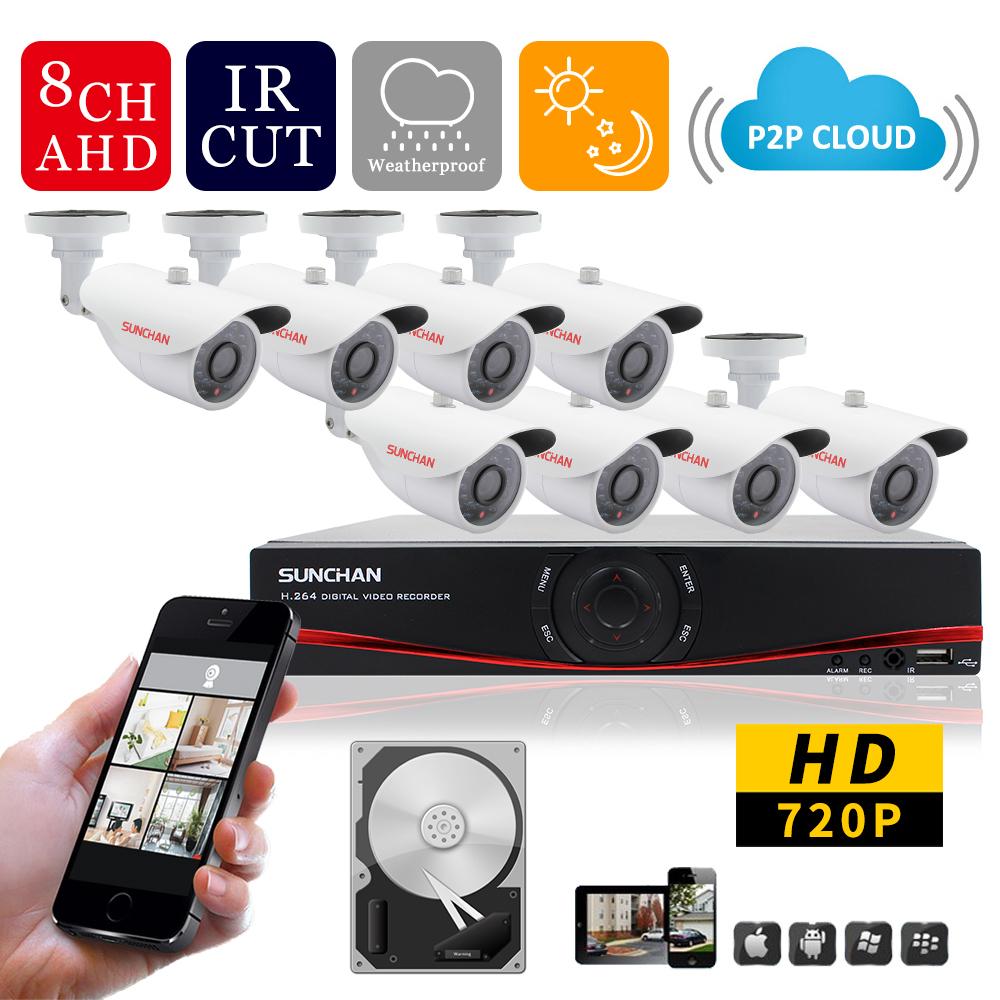 Система видеонаблюдения SunChan 8 Ch CCTV 1.0mP 8 AHD 720 P 960 h DVR 1 SKT-8080DV1-1TB система видеонаблюдения ngtechnic 8 8 cctv 8 2 dvr 1008 d626bcm 700 c