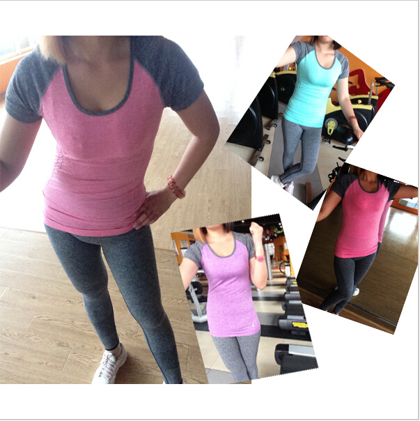 T shirts Women Summer Style Short Sleeve Casual Loose Sports Running Gym Exercise T shirt New