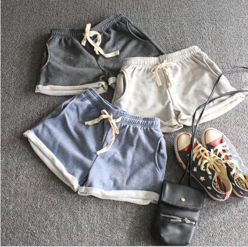2015 лето женщины шорты хлопок эластичный пояс свободного покроя карманные пляжные ...