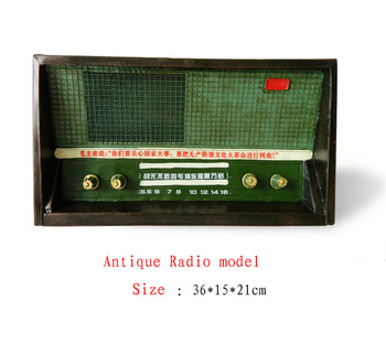Antique craft antique radio model handmade craft home decoration bar coffee house display birthday gift