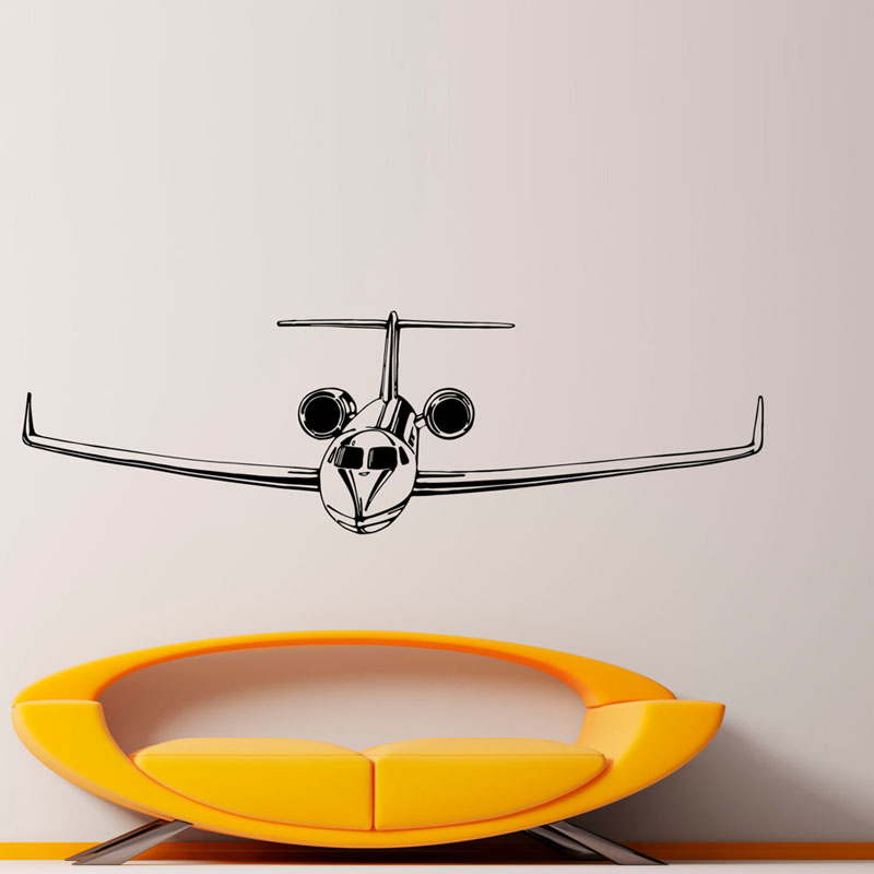 Airliner Wall Decor Stickers Living Room Removable Home Decorative Wall Decals Kids Room PVC Wall Sticker Supplier(China (Mainland))