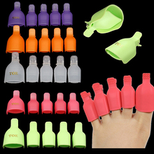 5 Pcs Toenail Soak Off Clip Caps Nail Art Tips Polish UV Gel Clamp Remover Wrap