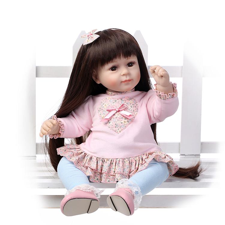 52CM Silicone Baby Reborn Dolls Lovely Toys Girls Kids Sleeping Accompany Toys Birthday Gift Early Education Dolls Mold <br><br>Aliexpress