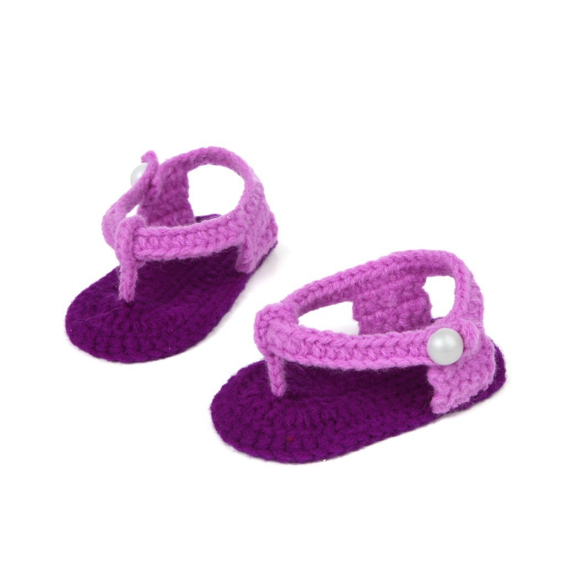 2017New Baby Newborn Shoes Spring Summer Handmade Crochet Weave Shoes Hot Sale Infant 0-6M Toddlers Baby Knitting Casual Shoes(China (Mainland))