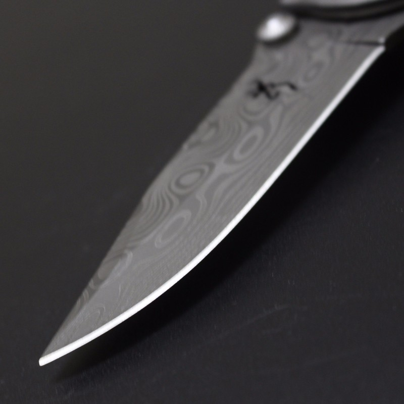 Buy Browning Damascus pattern Blade knife 440C Stainless Steel Camping Hunting knife wood handle Rescue Tactical pocket knife edc cheap