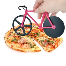 Bicycle Pizza Cutter Dual Stainless Steel Bike Pizza Cutter Wheel Pizza Round Knife Tools( Red/ Green)(China (Mainland))