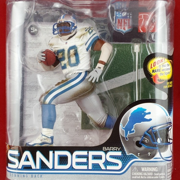 Animation Garage Kid Collection Toys Action Figure PVC Dolls NFL Detroit Lions Football Player Barry Sanders Model Best Gifts(China (Mainland))