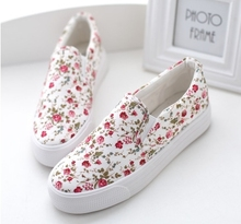 Female spring canvas shoes sneakers pupil lolita low platform Harajuku shoes cotton made casual shivering pedal