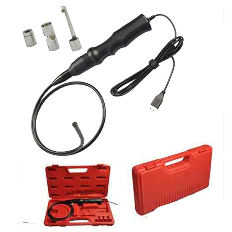 Free shipping!!6LEDs/5.5mm USB Endoscope Inspection Snake Camera Borescope+Magnet+Hook+Mirror car diagnosis(China (Mainland))