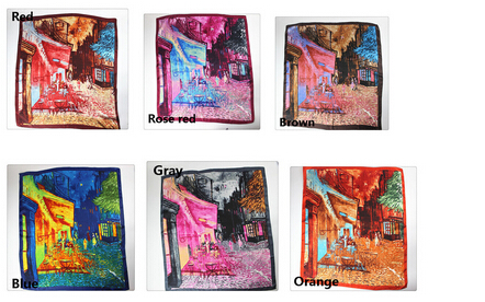 90cm Square Scarf Painted Love Butterfly Scarves Sunscreen Shawl for Women Ladies Y17000-Y17005(China (Mainland))