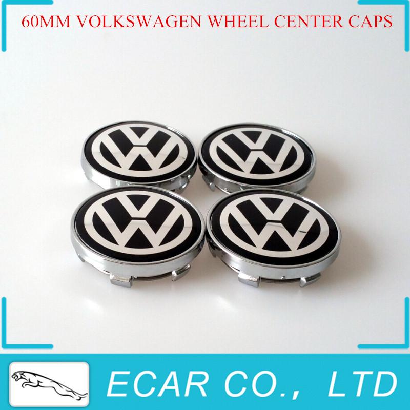 Car Styling 4 x 60mm Black VW Wheel Hub Center LOGO Caps Aluminum Emblem Fits for VW Golf 6 Jetta MK5 MK6 POLO Passat B5 B6 B7<br><br>Aliexpress