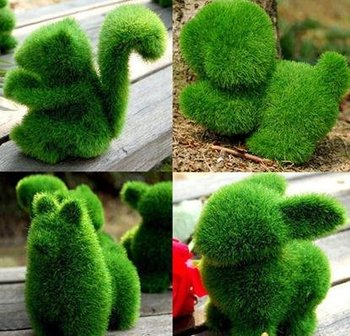 4pcs/lot Grass Land cute  animals artificial grass ZF001,animals designs decorations, can relieve eye fatigue Artificial Turf