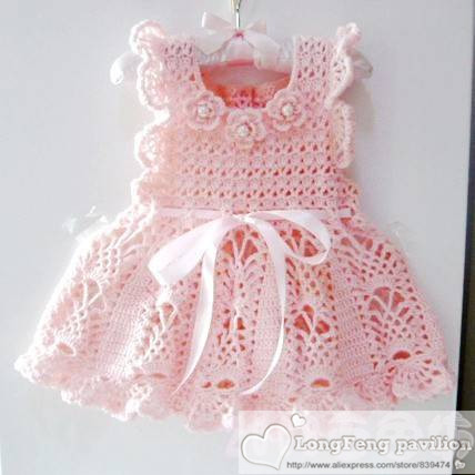 100% pure Hand knitted baby cute a set dress - baby knitting pink sweater - 04 princess dress-a newborn gift full of love(China (Mainland))