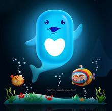 LED Sensor Night Lamp Home Decoration Novelty Nightlight Dolphin Honeybee Animal Light & Lights Creative Life Novelty Households(China (Mainland))