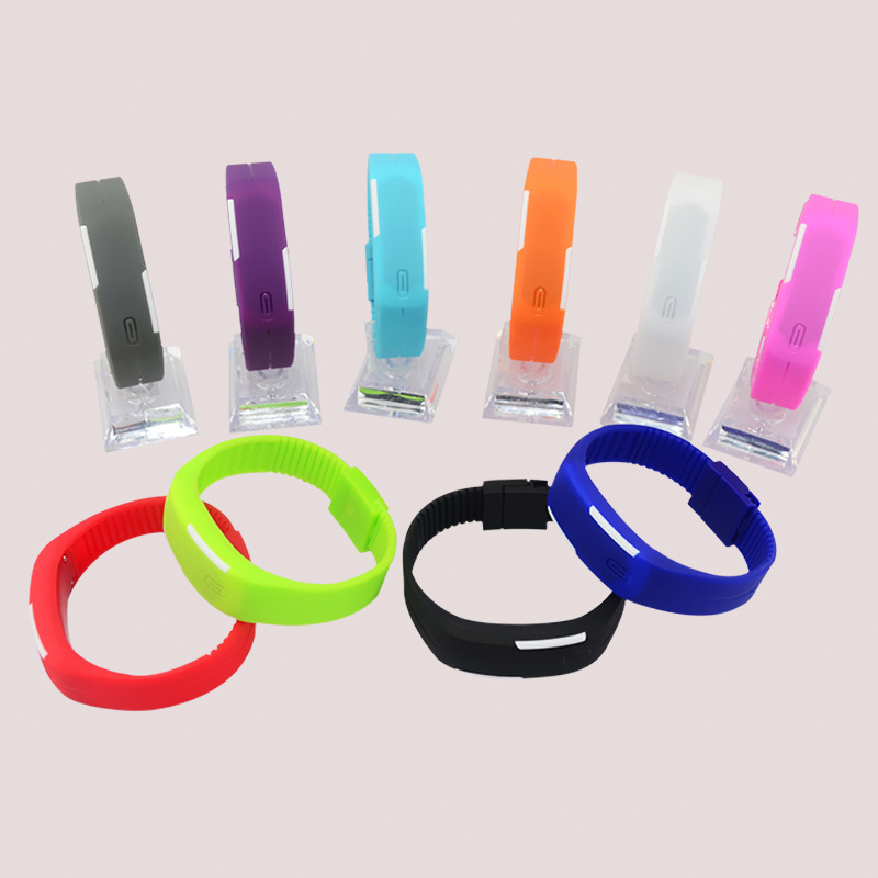 DHL free 250pcs/lot wholesale newest hot sales Fashion waterproof LED Candy colors jelly student couples bracelets sports watch<br><br>Aliexpress