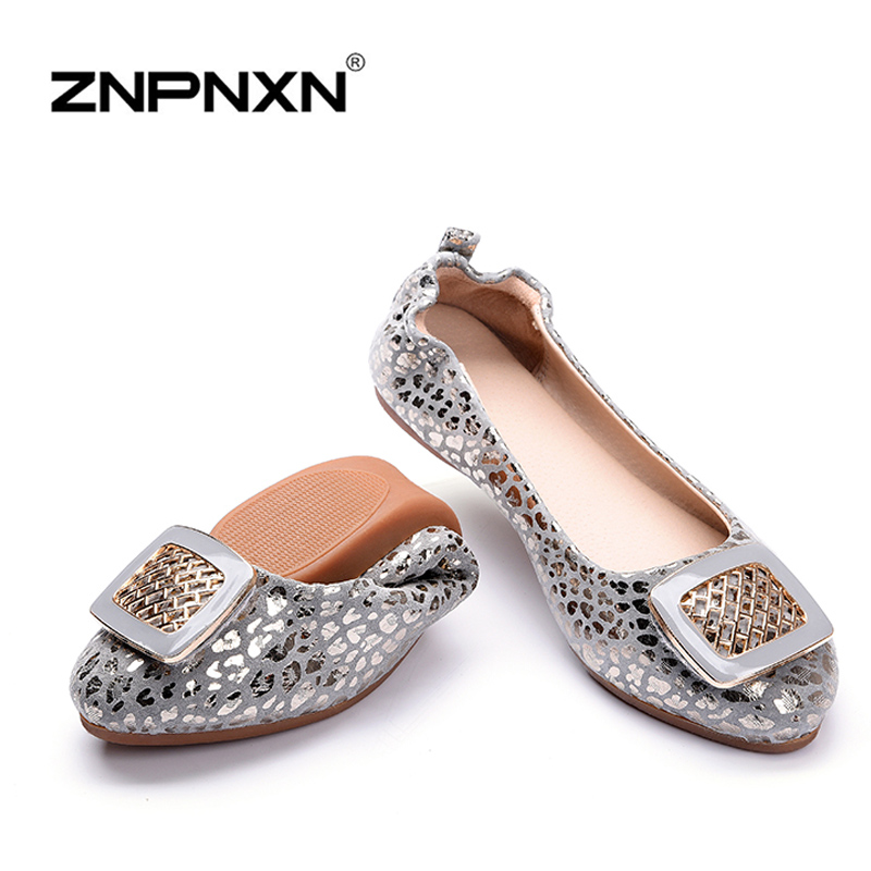 New Arrival Women Flat Shoes Woman Genuine Leather Ballet Shoes Ballet Flats Big Size 35-43 Soft Comfortable(China (Mainland))