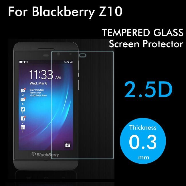 0.3mm Arc edge 2.5D Premium Explosion-proof Tempered Glass Screen Protector 9H HD Clear Protective Film For Blackberry Z10(China (Mainland))