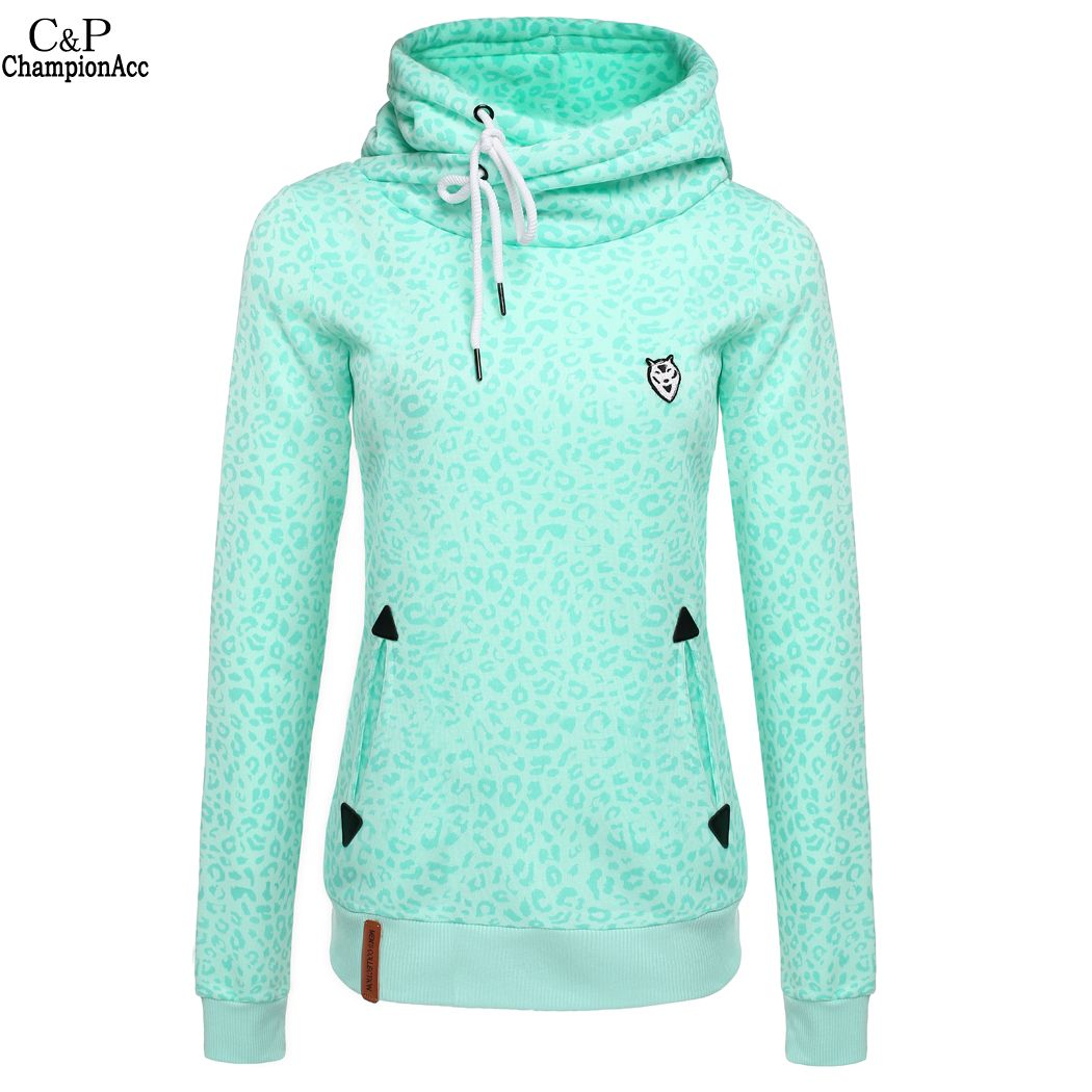 High Quality Leopard Print Women Sweatshirt 2016 Fashion Tracksuits Full Sleeve Slim Pullover Hoodies Moleton Feminino @k