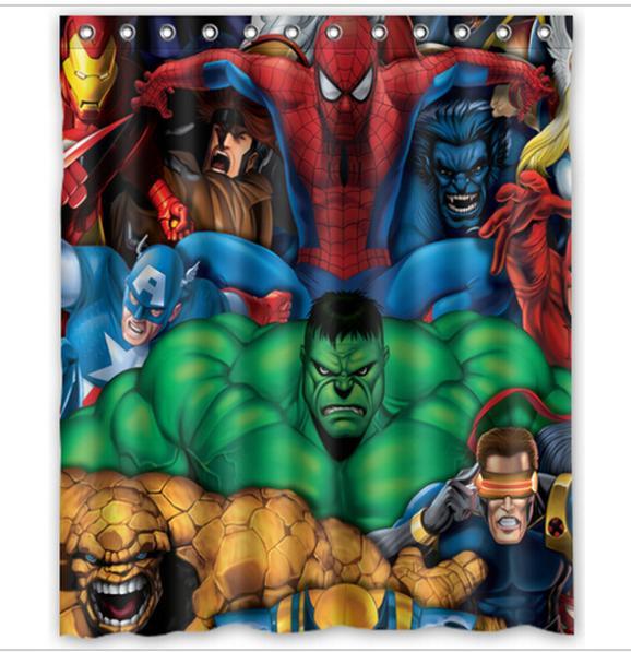 Marvel comics hero spider man hulk home decor modern shower curtain bathroom waterproof 36x72 - Marvel comics decor ...