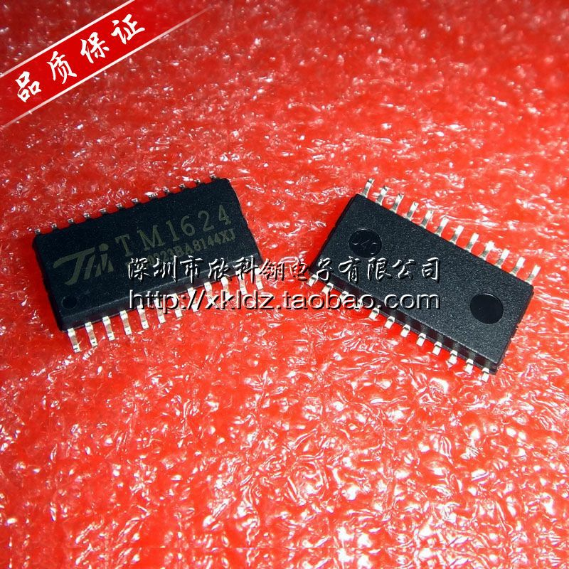 Guaranteed authentic TM1624 SOP24 LED driver chip digital electronic components(China (Mainland))