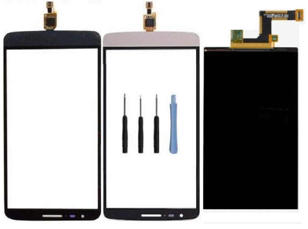 For LG G3 Stylus D690 D690n Outer Front Touch Screen lens Digitizer Glass Panel + LCD Display Screen + Sticker + Free Tools(China (Mainland))