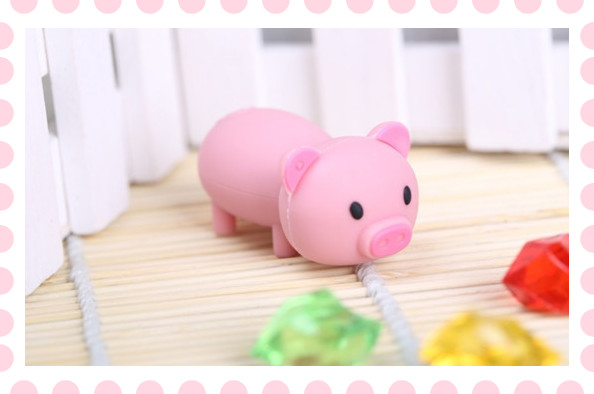 cartoon rose pig 4GB 8GB 16GB 32GB 64GB pink pet pig usb flash drive flash memory stick pen drive gift S116(China (Mainland))