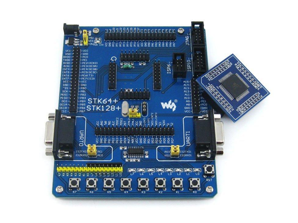 AVR ATmega128 ATmega128A ATMEL AVR Development Board Kit + 2pcs ATmega128A-AU Core Board = Waveshare STK128+ Premium(China (Mainland))