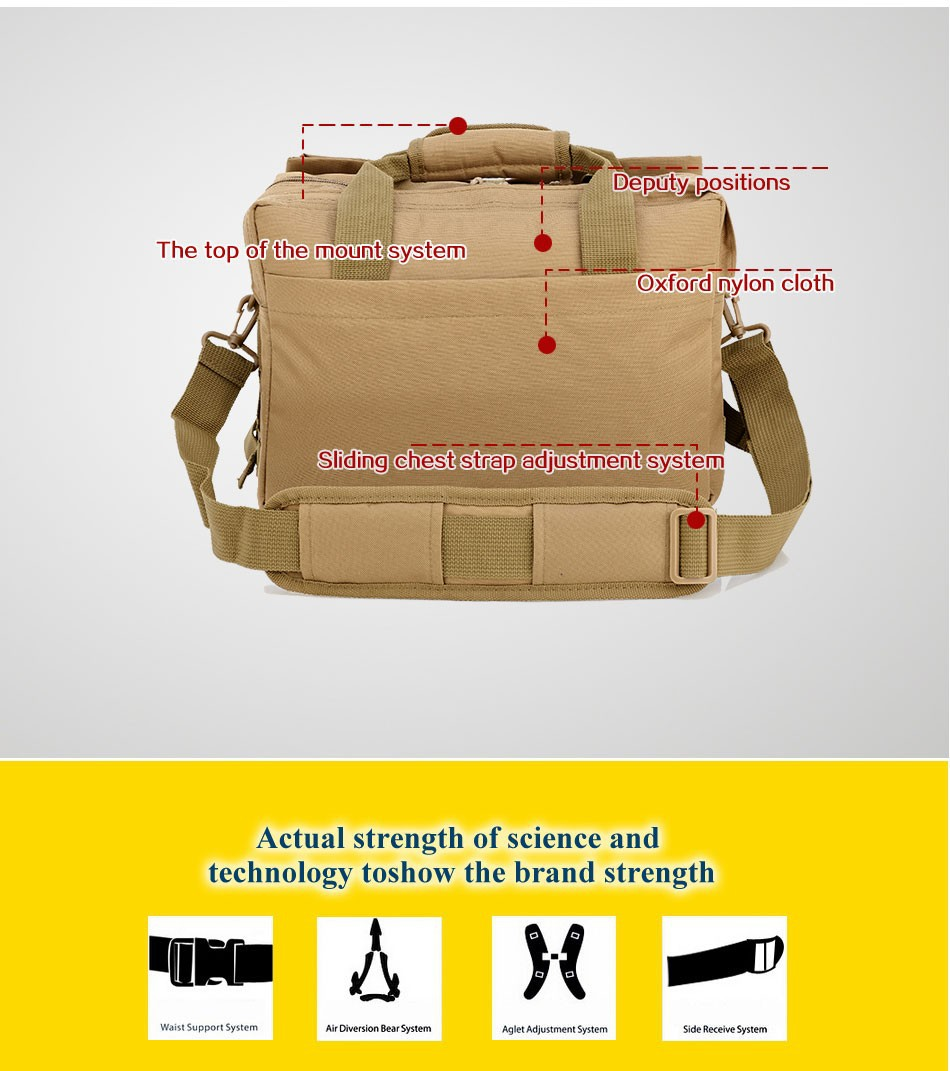 Multi Solid Nylon Shoulder Bags Wearproof  Men Outdoor Sport Climbing
