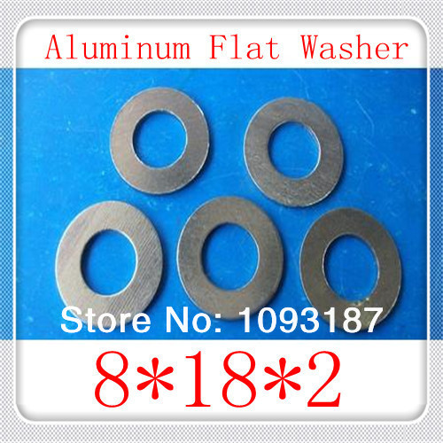 100PCS/LOT High Quality  8(ID)*18(OD)*2 Aluminum Flat  Washer  M6  Aluminum  Gasket<br><br>Aliexpress