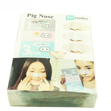 50Pcs/lot with Box! Korea Pig Nose Clear Black Head 3 Step Kit Beauty Makeup Cleaning Blackhead Mask Remover Cosmetic C043(China (Mainland))
