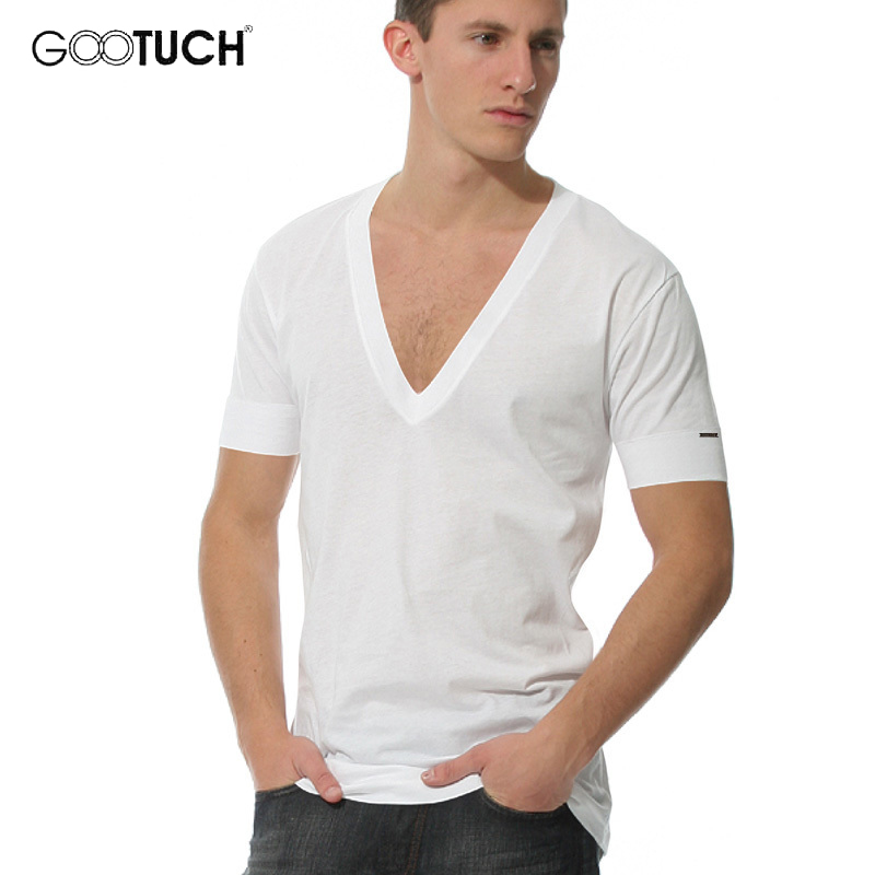 Deep V Neck Mens Undershirt Fanila T Shirt Men Modal Bodysuit Onderhemd Underwear High Quality Ropa Interior Hombre G 3003