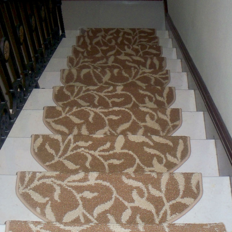 Stair tread carpet non slip mat staircase step rug for Durable carpet for stairs