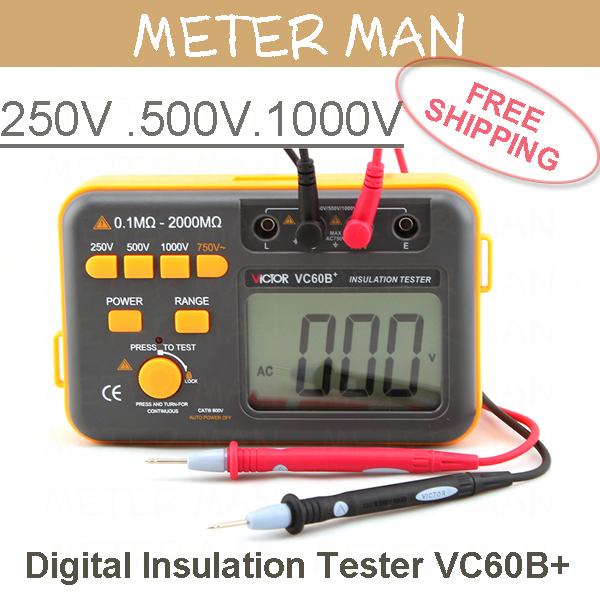 Free Shipping  1000V Digital Insulation Tester VC60B+<br><br>Aliexpress