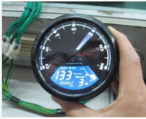 Universal LCD Digital Speedometer Odometer Motorcycle MotorBike F1,2,4 Cylinders(China (Mainland))