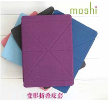New Moshi Versacover PU leather fold shapes Business case for Apple Air 5 + free shipping(China (Mainland))