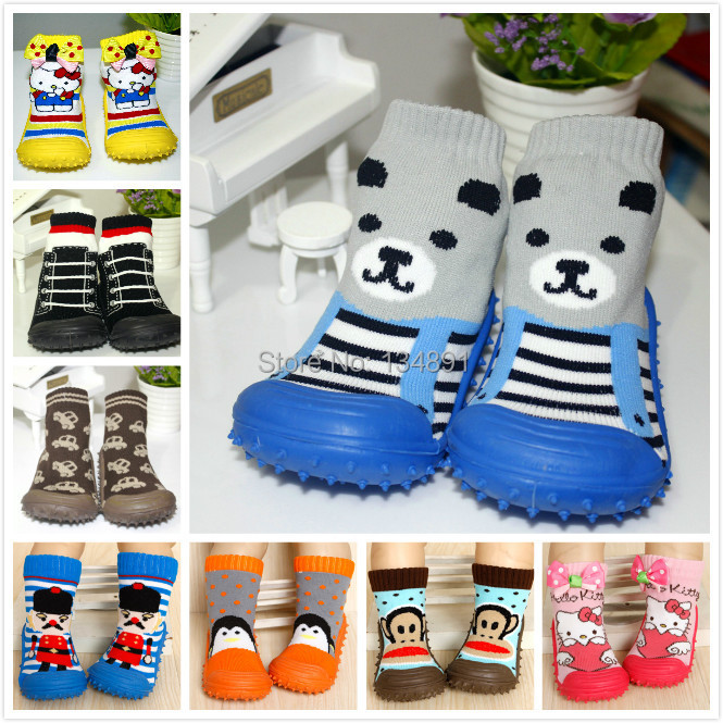 Funny mepiq baby shoes girl rubber sole boy's shoes 2014 hot anti skid kids shoes first walker children sock shoes skidders(China (Mainland))