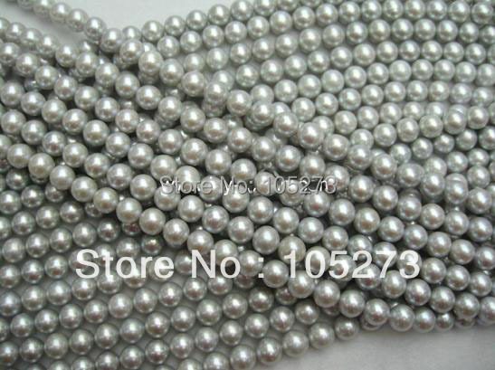 New Arriver Pearl Jewelry AA 7-8MM Gray Color Natural Freshwater Pearl Loose Beads 15inch/String New Hot Sale New Free Shipping<br><br>Aliexpress