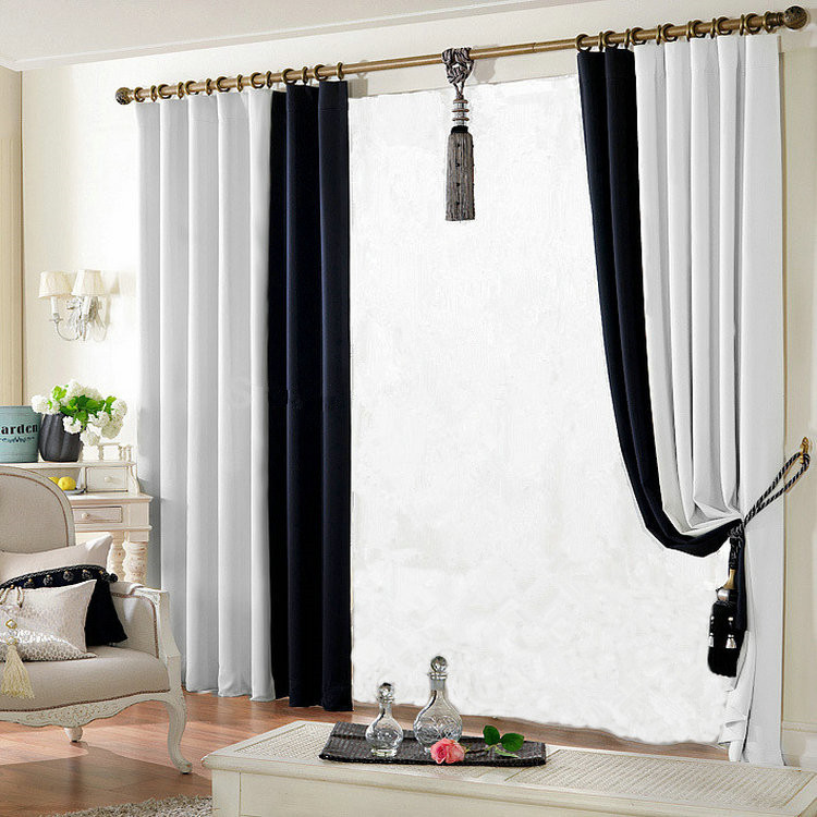 Buy Blackout Curtains For Living Room Cloth Curtain 150 250cm Solid Color