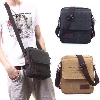 2015 новые люди мешки посыльного холст винтаж сумка мужчины плеча Crossbody сумки для человека коричневый черный маленькая сумка дизайнер сумки Bolso