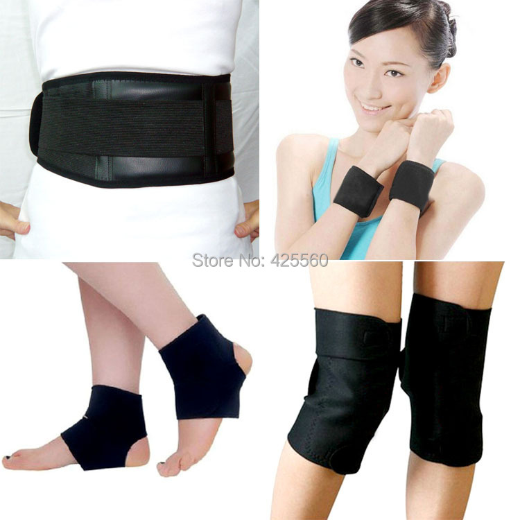 Tourmaline Self Heating Magnetic Therapy Waist Kneepad Support Tourmaline Ankle Magnetic Wrist Belt Massage(China (Mainland))