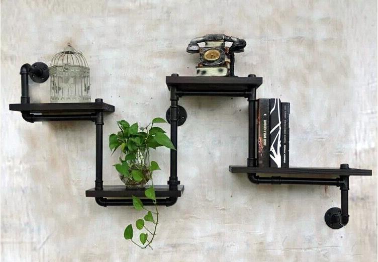 achetez en gros tuyau tag re murale en ligne des grossistes tuyau tag re murale chinois. Black Bedroom Furniture Sets. Home Design Ideas