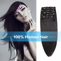 Chamring 8A Indian Virgin Hair Straight 6pc Clip In Human Hair Extension Brazilian Remy Human Hair