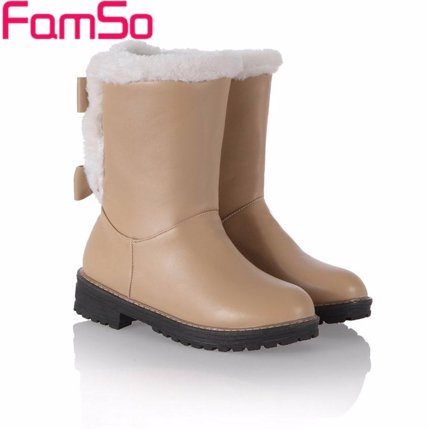 ซื้อ ขนาดใหญ่34-43 2016ใหม่สไตล์R Etroผู้หญิงบู๊ทส์ออกแบบสีดำกลางน่องรองเท้าขี่ฤดูหนาวรัสเซียเต็มขนรองเท้าหิมะSBT4192