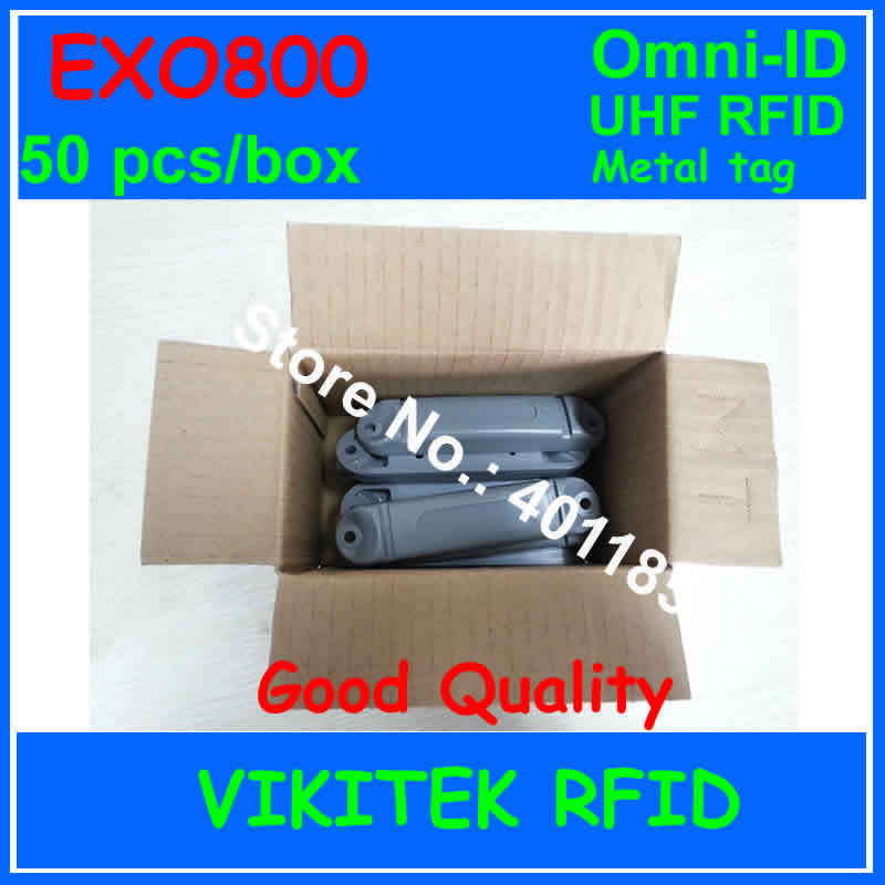 Omni-ID Exo 800 UHF RFID metal tag 915M EPC C1G2 ISO18000-6C 50 pcs per box Exo800 Manufacturing tote tracking Logistics Postal(China (Mainland))